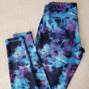 Danskin Denim Swirl Printed Ankle Legging
